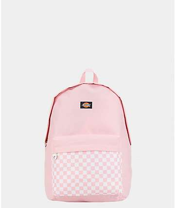 Dickies Pink Checkered Mini Backpack
