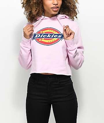 Dickies Pink Crop Hoodie