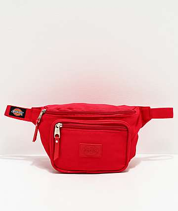 Dickies Red Canvas Fanny Pack