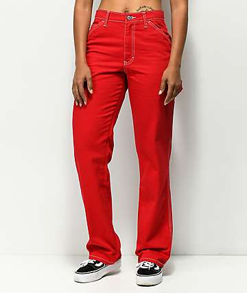 Dickies Red Carpenter Pants