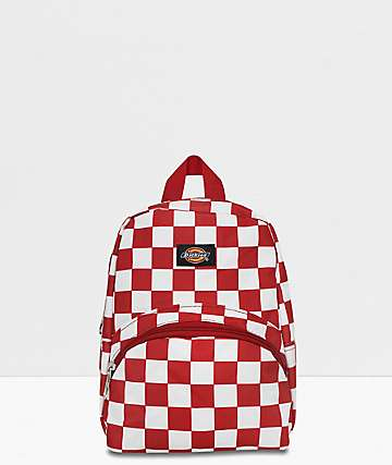 Dickies Red Checkered Mini Backpack
