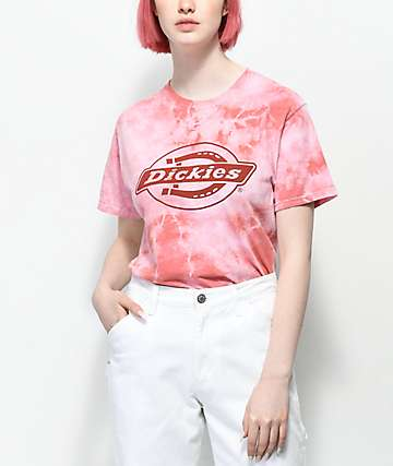 Dickies Red Mineral Wash T-Shirt