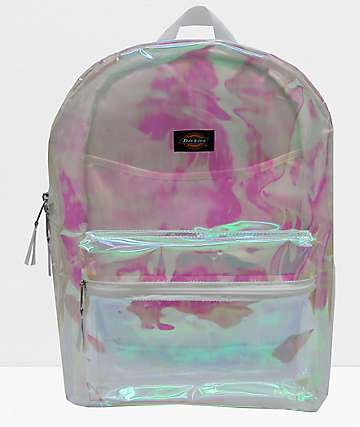 Dickies See Through Iridescent Champagne Backpack