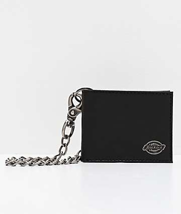 Dickies Small Logo Black Chain Wallet