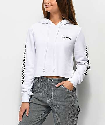 Dickies Tread White Crop Hoodie