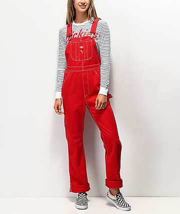 Dickies Twill Red Overalls