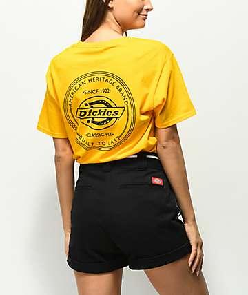 Dickies Vintage Stamp camiseta amarilla