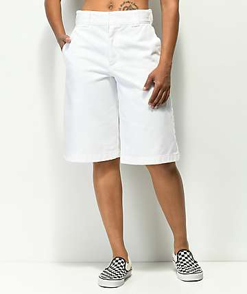 Dickies Wide Leg White Work Shorts