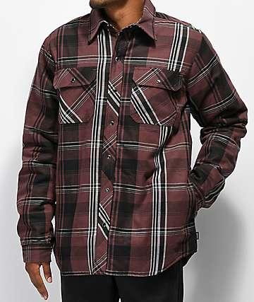 Dickies camisa de franela marrón con sherpa