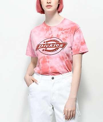 Dickies camiseta con lavado mineral en rojo
