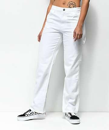 Dickies pantalones blancos estilo carpintero