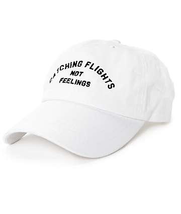 Dimepiece Catching Flights Not Feelings gorra strapback en blanco