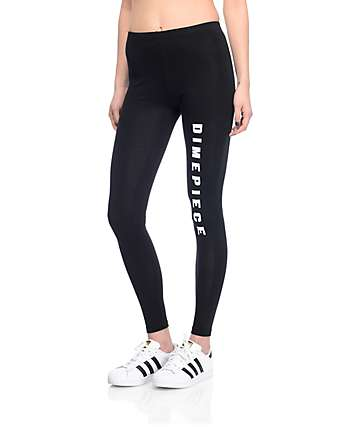 Dimepiece Logo Black Leggings