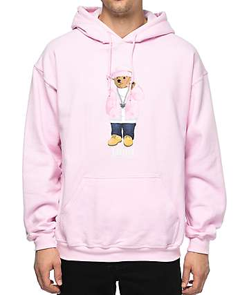 Dipset Killa Cam Bear sudadera rosa con capucha