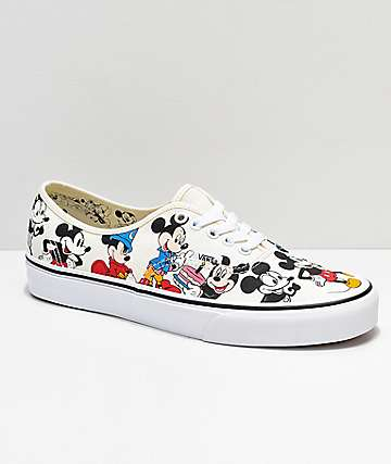 Disney by Vans Authentic Mickey's Birthday True White Skate Shoes