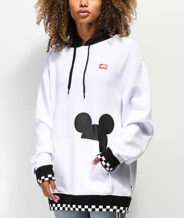 Disney by Vans Checkerboard Mickey White & Black Hoodie