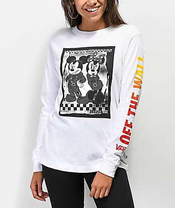 Disney by Vans Punk Mickey White Long Sleeve T-Shirt