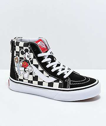 Disney x Vans Sk8-Hi Mickey Checkerboard Shoes