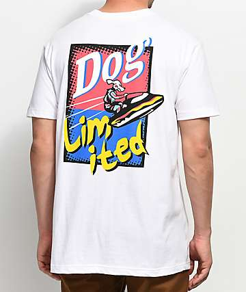 Dog Limited Dog Ski White T-Shirt