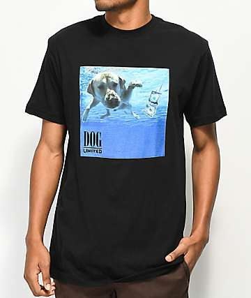 Dog Limited Grrvana Black T-Shirt