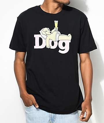 Dog Limited Lazy Dog camiseta negra