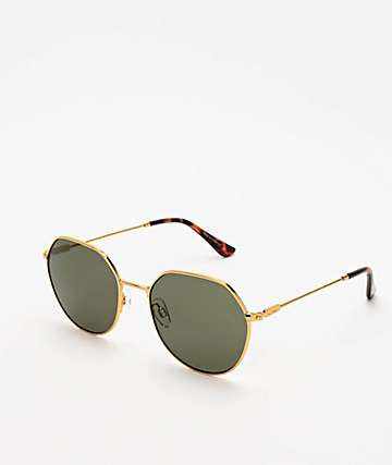 Dot Dash Jitters Gold & Grey Sunglasses