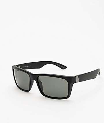 Dot Dash Lads Black Satin & Grey Polarized Sunglasses