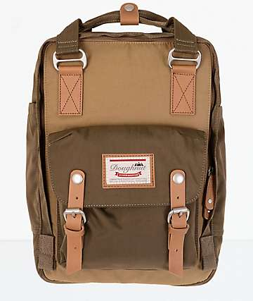 Doughnut Macaroon Khaki & Army Backpack