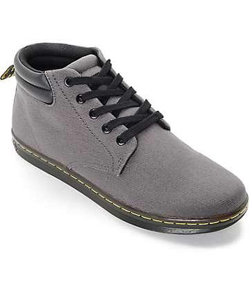Dr. Martens Maleke Padded Collar Grey Shoes