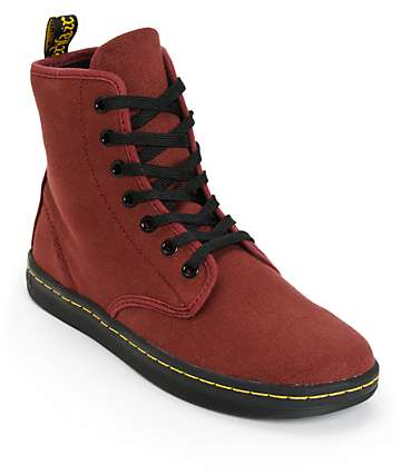Dr. Martens Shoreditch botas de color rojo cereza