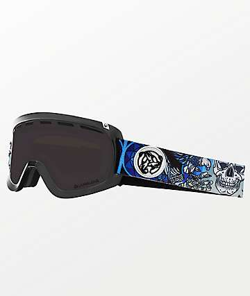 Dragon D1 OTG Schoph Asymbol Dark Smoke Ion Snowboard Goggles