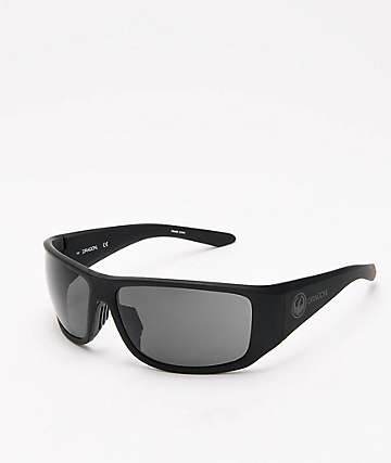 Dragon Jump Matte Black & Grey Sunglasses