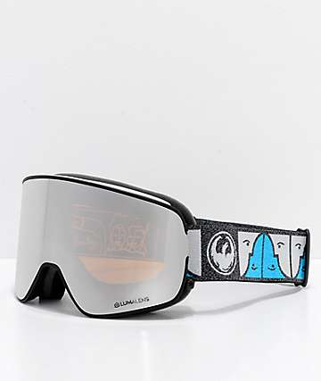 Dragon NFX2 Forest Bailey Signature Silver Ion Snowboard Goggles