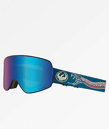 Dragon NFX2 Rattler Blue Ion gafas de snowboard