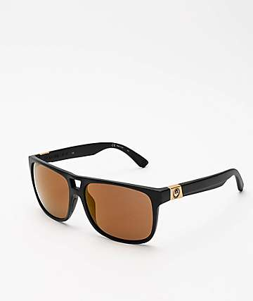 Dragon Roadblock Matte Black & Copper Ion Sunglasses