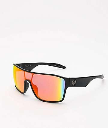 Dragon Tolm Matte Black Red Ion Sunglasses