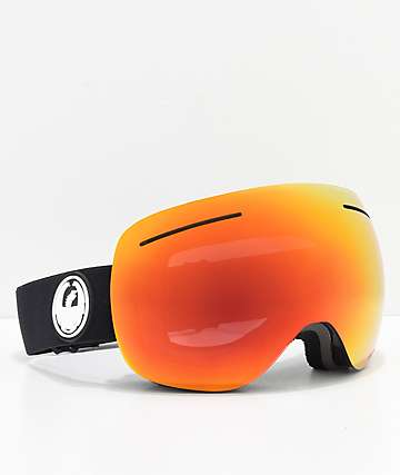 Dragon X1 Black & Red Ion Snowboard Goggles