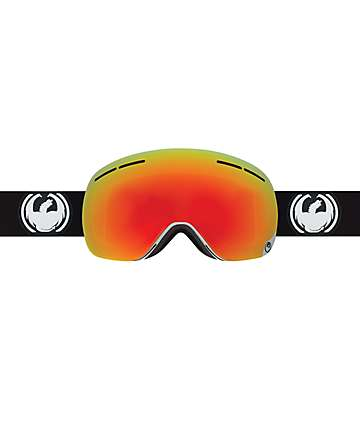 Dragon X1 Inverse White & Red Ionized Snowboard Goggles