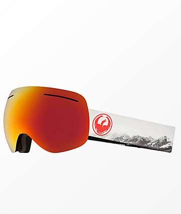 Dragon X1 Realm Lumalens Red Ion Snowboard Goggles