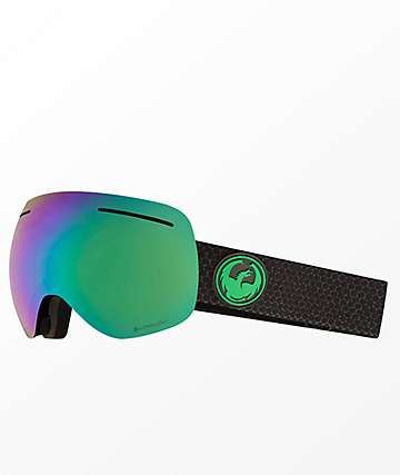 Dragon X1 Split Lumalens Green Ion Snowboard Goggles