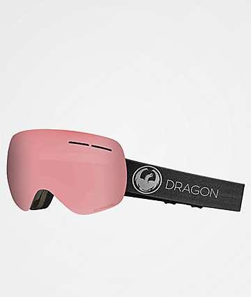 Dragon X1s Echo Photochromatic gafas de snowboard en rosa