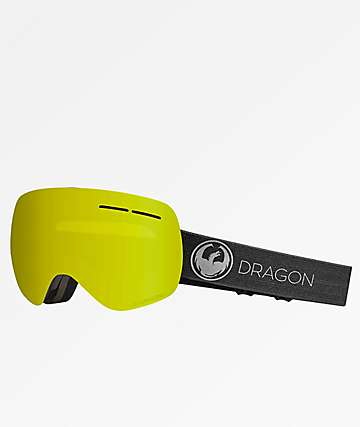 Dragon X1s Photochromic Echo Yellow Snowboard Goggles