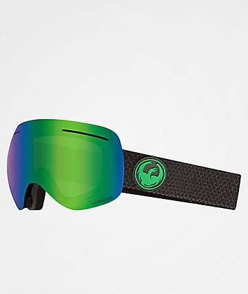 Dragon XI Split Green Ion Snowboard Goggles