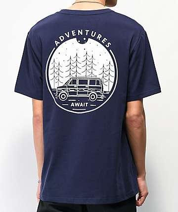 Dravus Adventures Await Navy T-Shirt