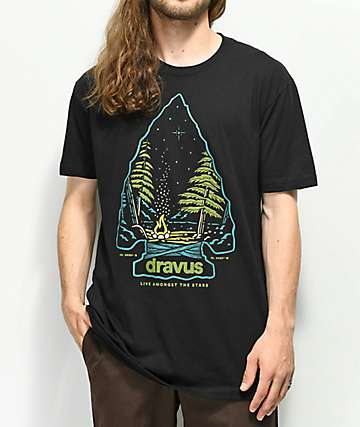 Dravus Amongst The Stars Black T-Shirt