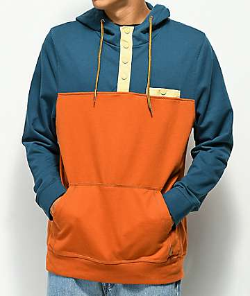Dravus Ascender sudadera con capucha azul y naranja