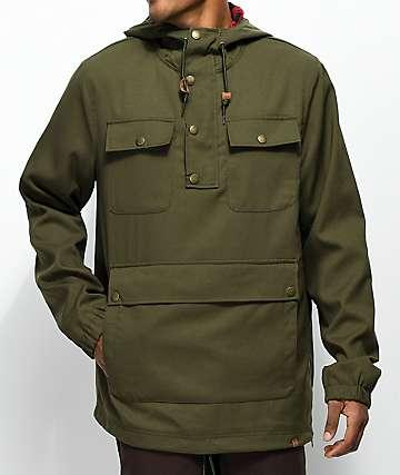 Dravus Bartley Olive Anorak Jacket