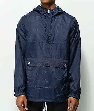 Dravus Bennie Navy Perforated Anorak Jacket