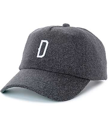 Dravus Bosky Charcoal Faux Wool Baseball Hat