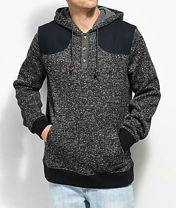 Dravus Cast Heather Grey Henley Hoodie